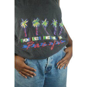 Pacific Palm Tree Tank Hoodie - Large